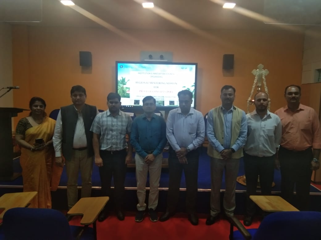 AICTE and MHRD team at MEC for IIC regional Meet